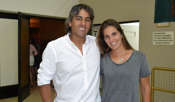 Ariel Tapia junto a su esposa durante la Fiesta del Deporte