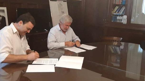 Barroso y Conte Grand al momento de acordar el trabajo conjunto