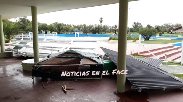Destrozos en el Balenario Municipal