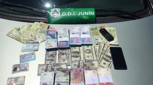 Dinero secuestrado a la banda