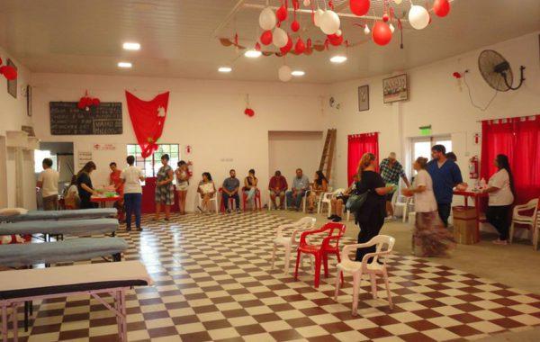 Donantes que se acercaron en horas tempranas a la filial de River en 9 de Julio