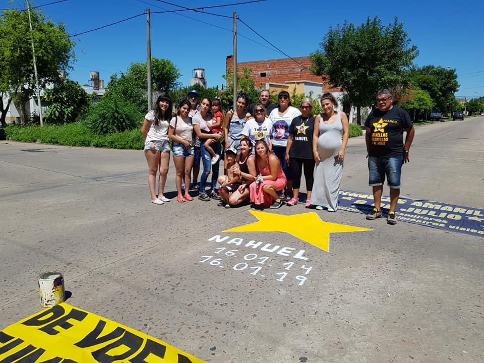 Estrellas Amarillas acompaño a la familia de Nahuel Fabiano y llamo a la reflexión