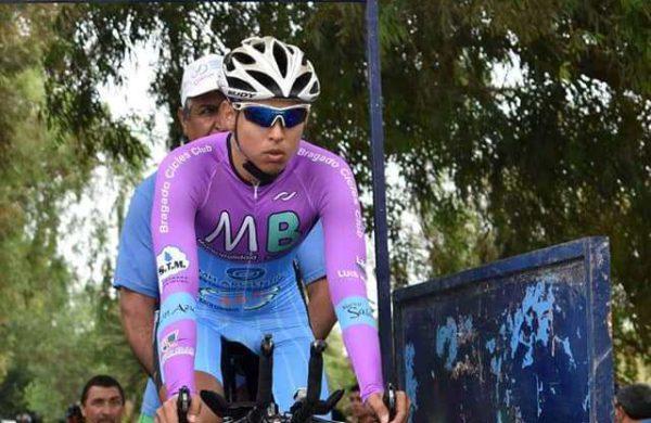 Federico Martinez al momento de largar en una de las etapas en San Juan
