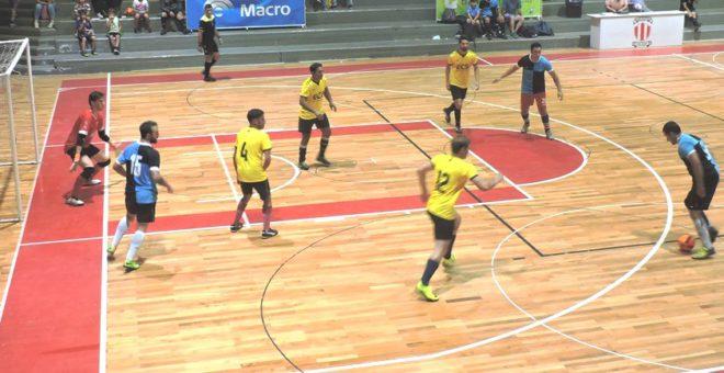 Tramo de uno de los partidos de Futsal