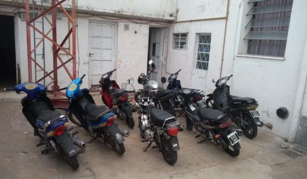 motocicletas secuestradas en los operativos