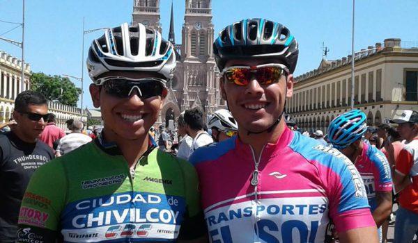 Agustin Martinez y Tomas Tabarez engalan el ciclismo de 9 de Julio en la Doble Bragado