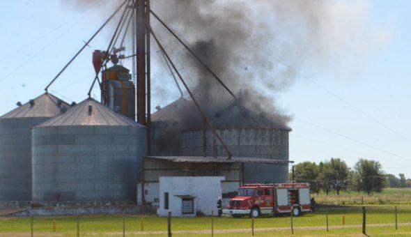 El incendio que se genero en la planta de silos