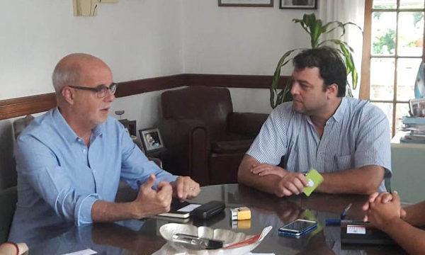 Ferella y Barroso en la mañana de hoy durante su reunion