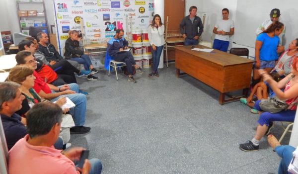 Instancia de la reunion en la Dirección de Deportes