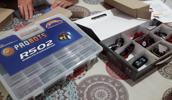 Kits de robotica que sera entregado este miercoles