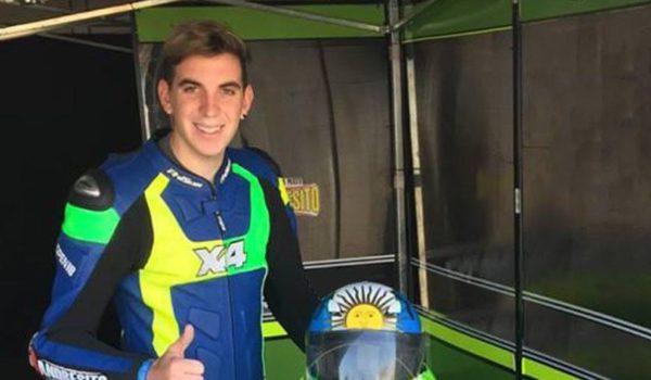 Lucas Piky Pastorino en una de las carreras mas importantes de su vida