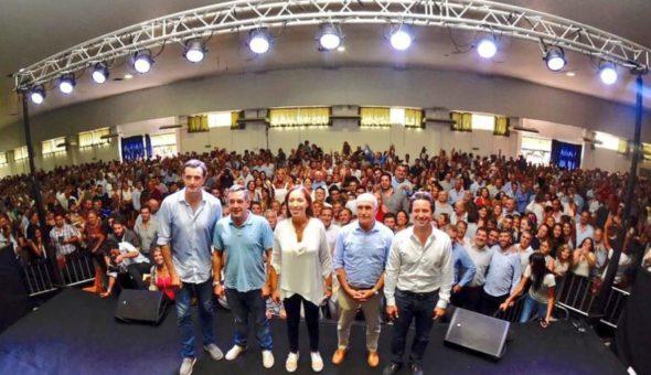 Vidal junto a funcionarios nacionales y de provincia en el acto docente