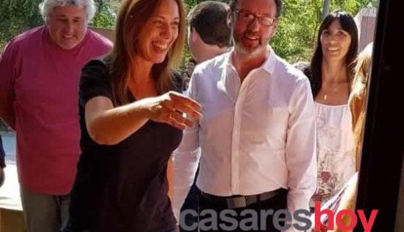 Vidal junto al intendente Torchio en Casares