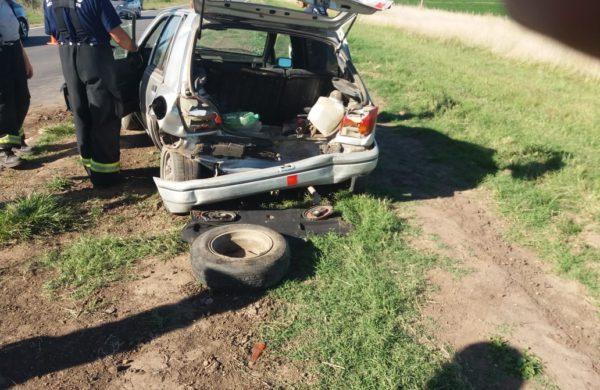 Automovil Ford Fiesta involucrado en el accidente