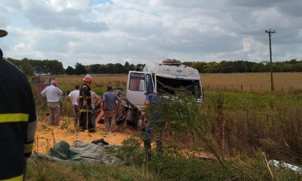 Camion que se vio involucrado en el accidente – Foto Sergio Hurtado