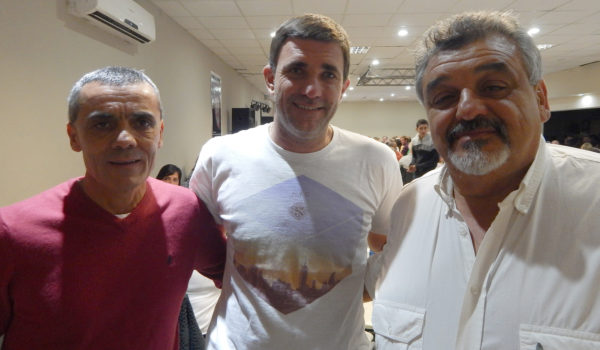 Daniel Farias, Santiago Alvarez y Roberto Marti, con un unico objetivo Club San Martin