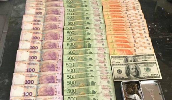 Dinero secuestrado por la Justicia Federal en el operativo