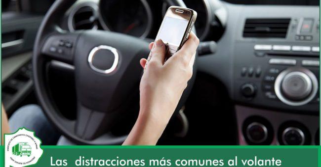 El celular al volante es la principal distraccin que causa de accidentes