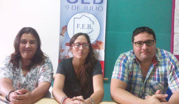 Sivori, Maestruti y Agostinelli integrantes de FEB 9 de Julio