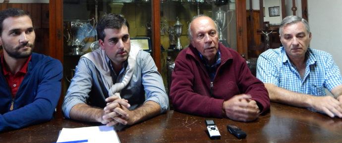 Joaquin Disavia de Aapresid, Juan Fage del CIANJ, Luis Ventimiglia, INTA y Fernando Mato desde Sociedad Rural de 9 de Julio