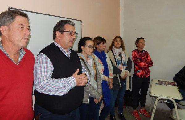 Juan Gutierrez, Eduardo Morrone y profesores de la Carrera
