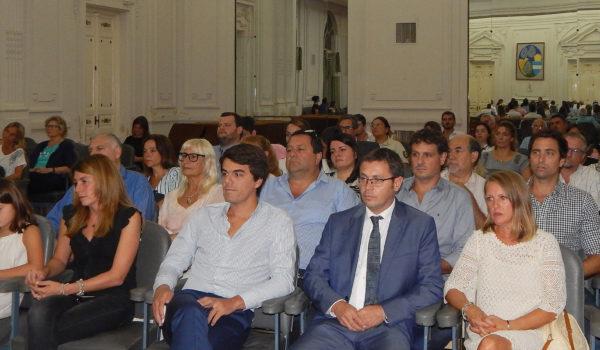 Mauricio Vivani este jueves junto a su esposa y el Secretario General del Munici'pio Paolo Barbieri