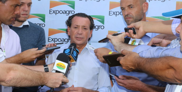 Ministro Dante Sica durante su visita a Expoagro