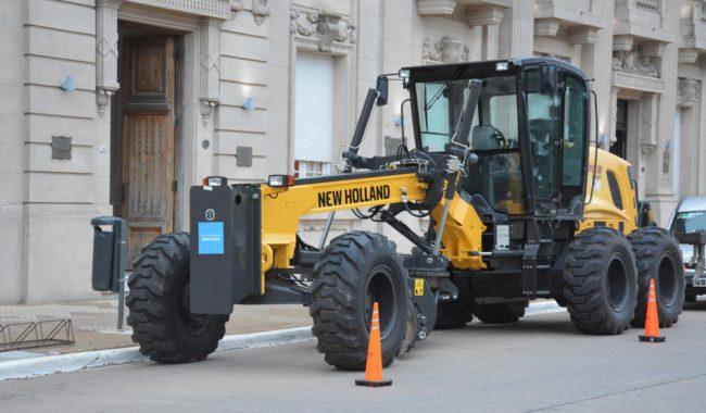 Motoniveladora recientemente incorporada por el Municipio