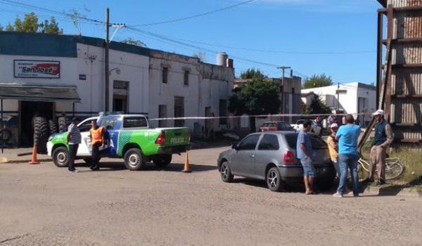 Policia de Bragado realizo un perimetro en el lugar del hecho