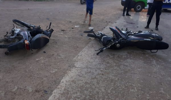 Ambas motocicletas que fueron participes del accidente- foto Radio Eco 97.1