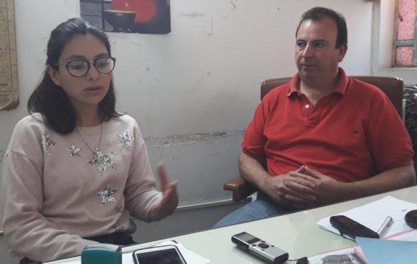 Cintia Tello y Roberto Asenjo del Consejo Escolar de 9 de Julio