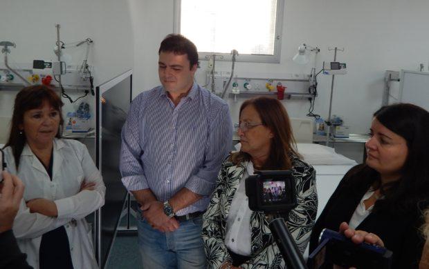 Dra Garcia, Barroso, Gutierrez y Pirotta en dialogo con la prensa