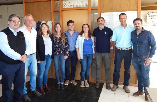 Galarreta y Morrone junto al Equipo Directivo de la Tecnica 2