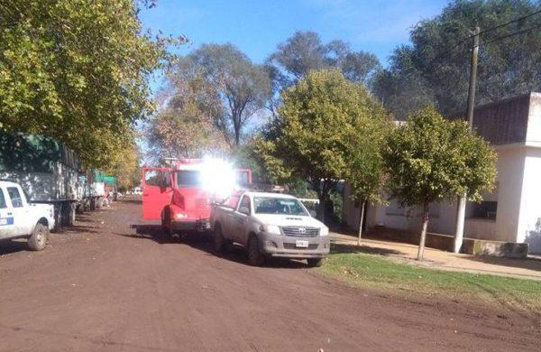 Incendio en una vivienda de Carlos Maria Naon