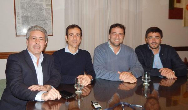 Javier Martinez, Pablo Petrecca, Mariano Barroso y Ezequiel Gali, comparten experiencias de gestion municipal