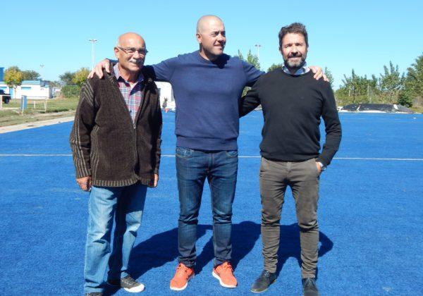 Jose Mignes, junto a German Marrafino y Juan Carlos Alvarez de la Sub Comision de Hockey en San Martin
