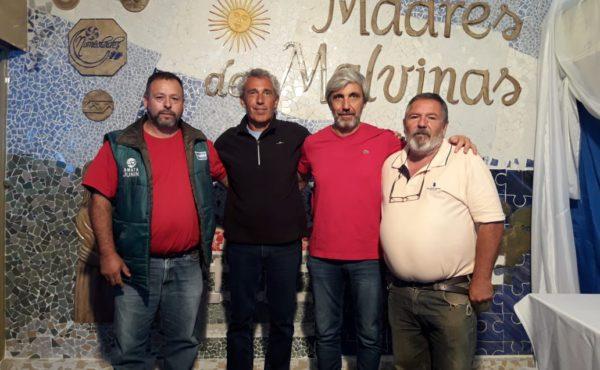 Los Veteranos Cristobal y Bozzufi junto a Julio Aro y Raul Gonzalez