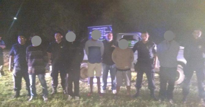 Los individuos detenidos