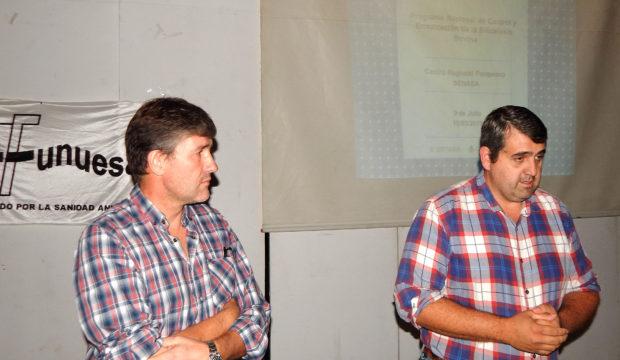 Marcelo De Olavarrieta y Hugo Enriquez presidente de Funuesa