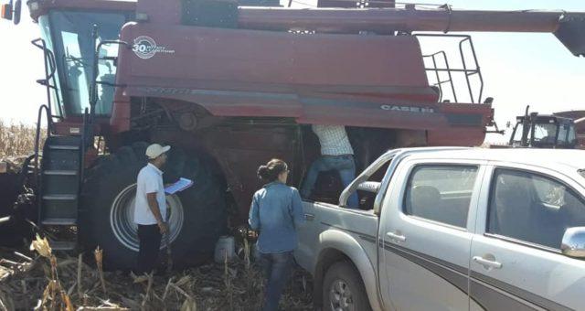 Personal de Uatre y Renatre trabajando en un campo de Chacabuco – foto UATRE