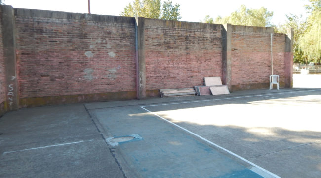 Una de las dos paredes que serian derribadas