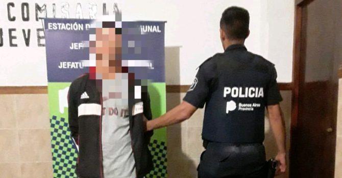 Una de las personas detenidas