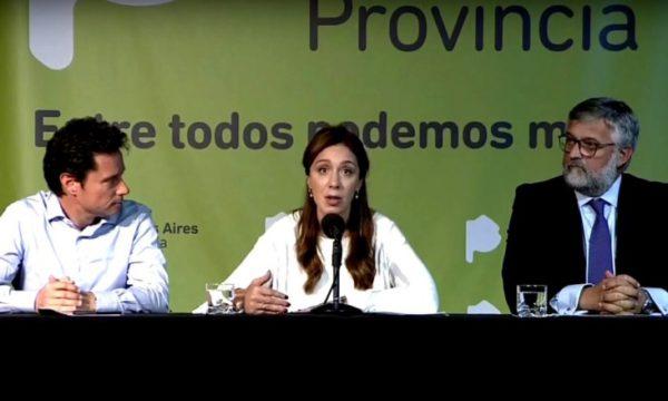 Vidal junto a Villegas y Sanchez Zinny