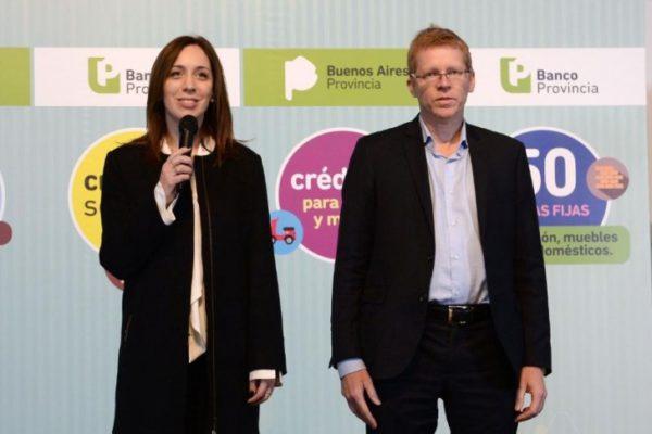 Vidal junto al presidente del BAPRO, Juan Curuchet