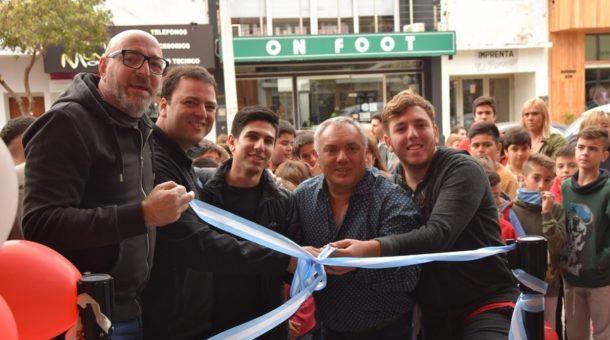 Eduardo Dimarco, Mariano Barroso y Guillermo Aranda en la apertura de Tu Cine