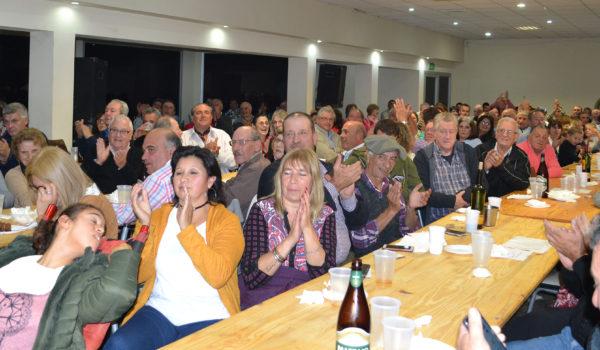 El publico disfruto de la noche en San Martin