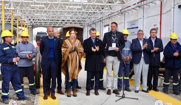 Macri, Vidal y el gerente de TMH en Mechita