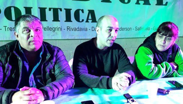 Octavio Arguello, Hernan Sanchez y Karina Moyano