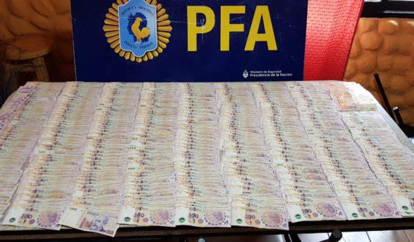 Dinero incautado por PFA
