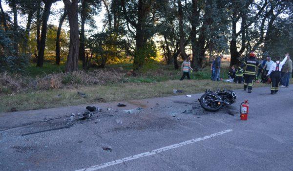 Motocicleta participante del accidente – foto Bomberos Bragado